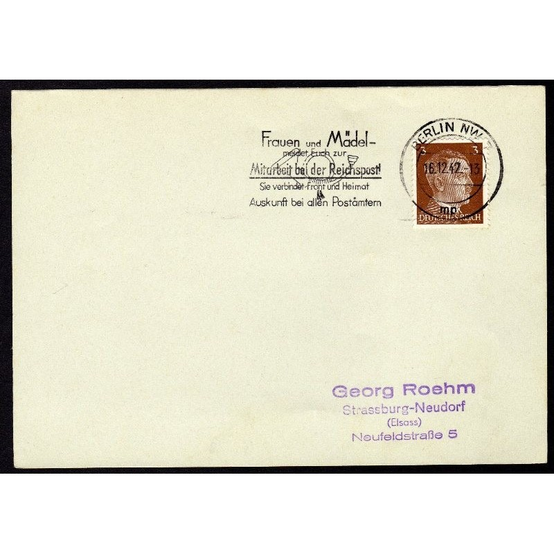 Allemagne n° 706 Yv. flamme WW2 BERLIN NW 7 mp Timbre Allemand Mi n° 782