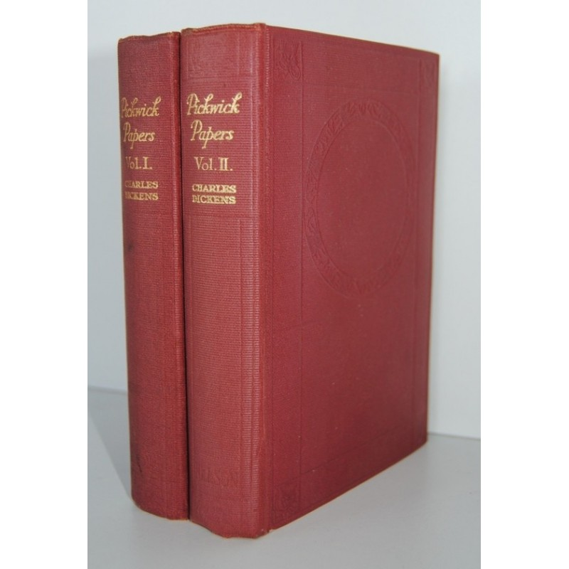 THE PICKWICK PAPERS by Charles Dickens in 2 Vol T. Nelson