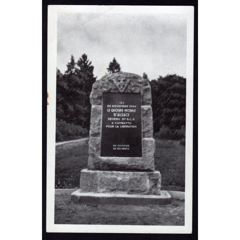 CPA Carte photo SEPPOIS-LE-BAS Monument du Groupe Mobile d'Alsace GMA 1944